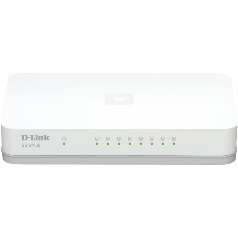 Switch D-Link RJ45 8Prts Gigabit 10/100/1000Mb DGS- 1008A