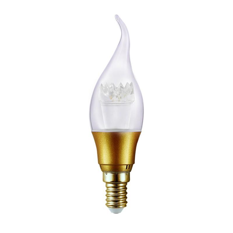 Pack 10 Ampoule LED flamme golden 3W lumière jaune