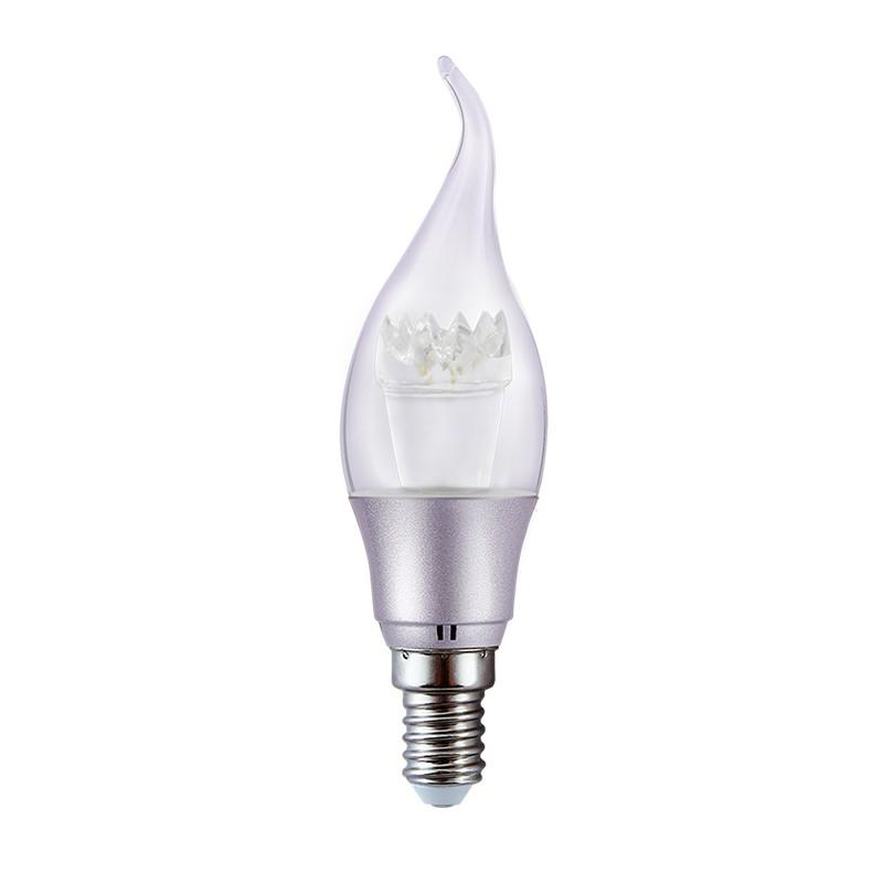 PACK 10 Ampoule LED flamme silver 3W lumière blanche