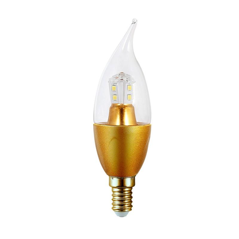 PACK 10 Ampoule LED flamme golden 5W lumière blanche
